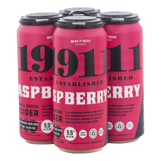 1911 Raspberry Hard Cider 4-Pack